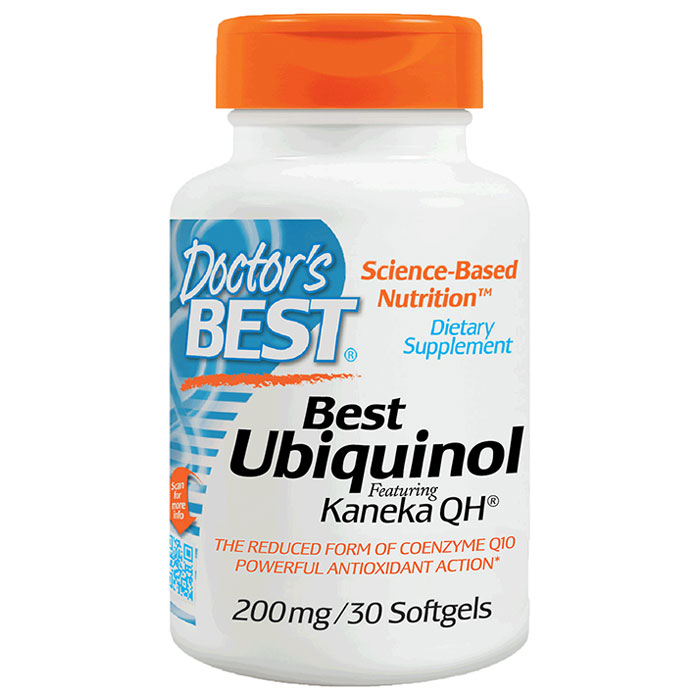 Ubiquinol 200 mg with CoQ10 Kaneka QH, 30 Softgels, Doctors Best