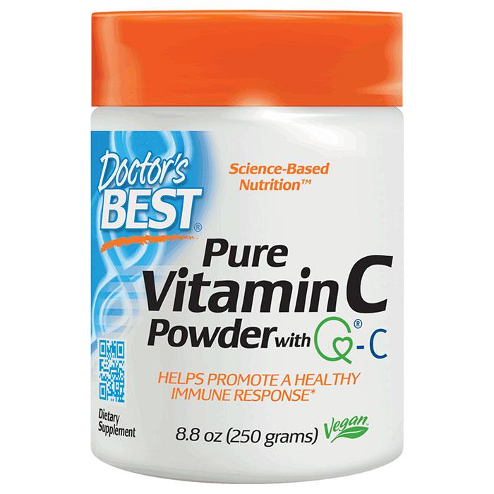 Pure Vitamin C Powder with Quali-C, 250 g, Doctors Best