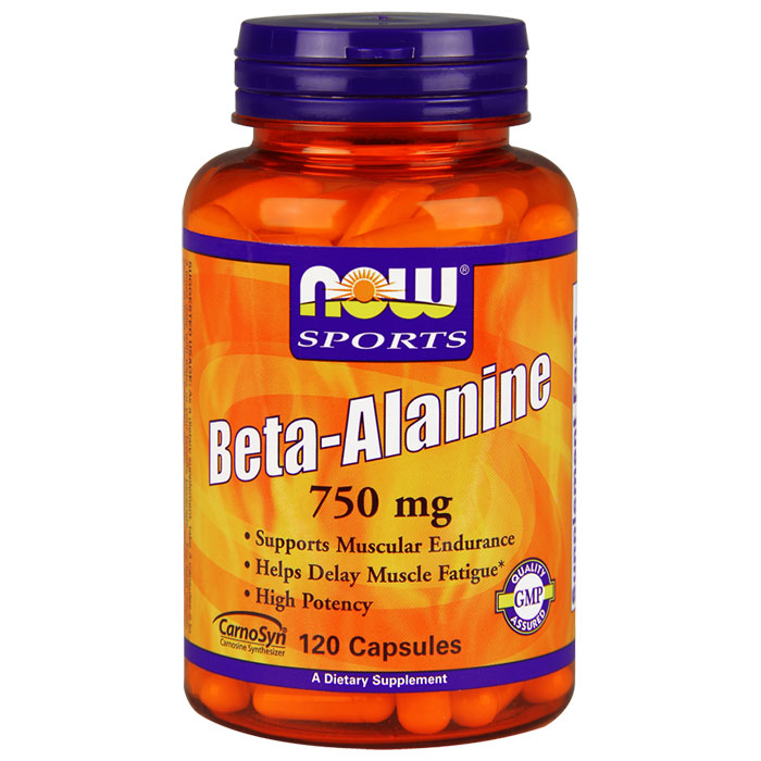 Beta Alanine 750 mg, 120 Capsules, NOW Foods