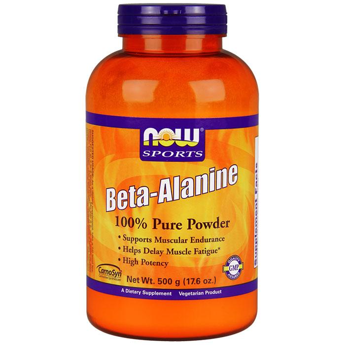Beta Alanine Powder, 500 g, NOW Foods