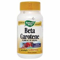 Beta Carotene 25,000 IU 100 softgels from Natures Way