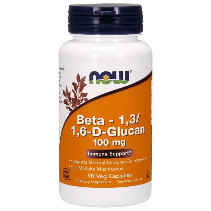 Beta 1,3/1,6- D -Glucan 100 mg, Beta-Glucan, 90 Vcaps, NOW Foods