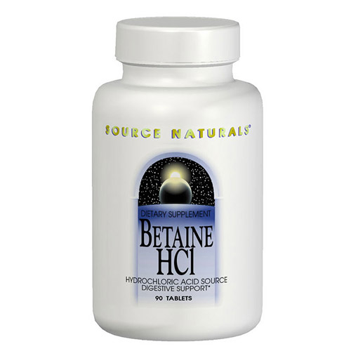Betaine HCL 650mg ( Betaine Hydrochloride ) 90 tabs from Source Naturals