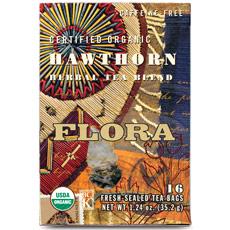 Hawthorn Tea, 16 Tea Bags, Flora Health