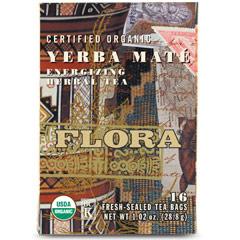 Yerba Mate Tea, 16 Tea Bags, Flora Health