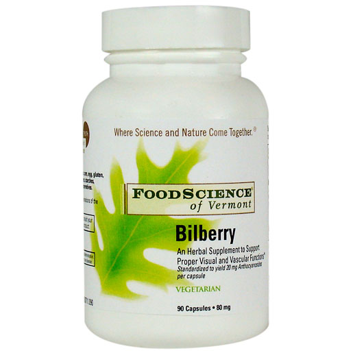 Bilberry 90 caps, FoodScience Of Vermont