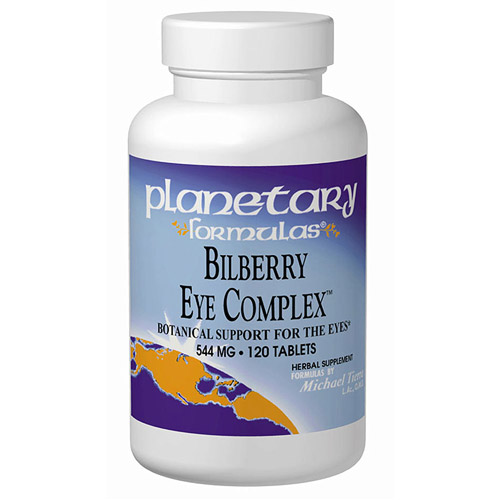 Bilberry Eye Complex 60 tabs, Planetary Herbals