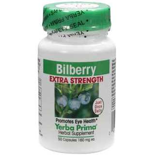 Bilberry Extra Strength 50 caps from Yerba Prima