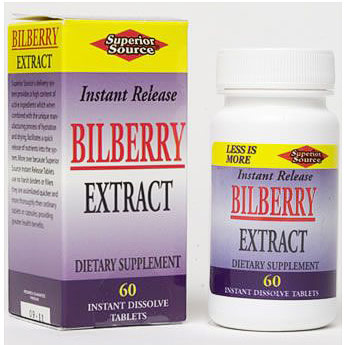 Bilberry Extract, 100 Instant Dissolve Tablets, Superior Source