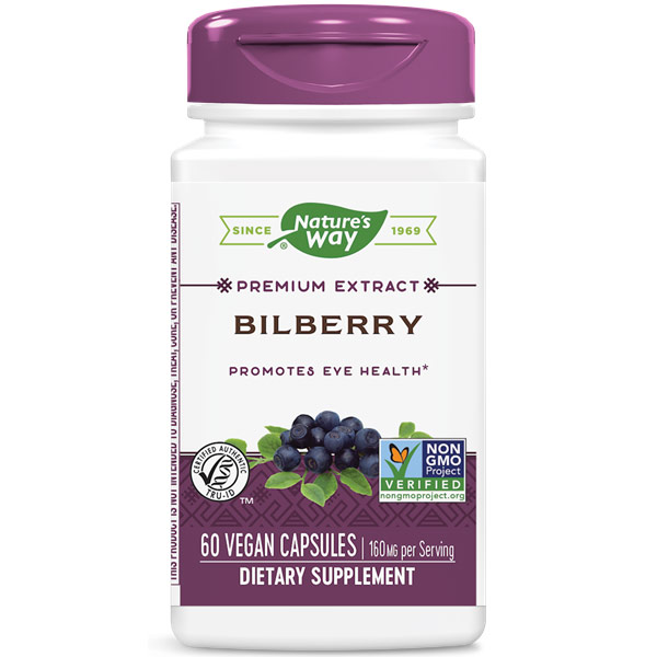 Bilberry Extract, 60 Veg Capsules, Enzymatic Therapy