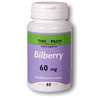 Bilberry Extract 60mg 60 caps, Thompson Nutritional Products
