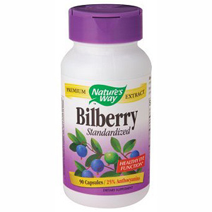 Bilberry Extract Standardized 90 caps from Nature