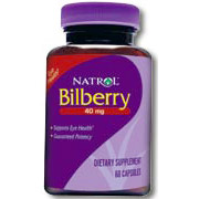 Bilberry Extract 60 caps from Natrol