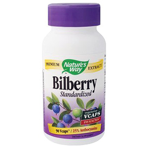 Bilberry Extract Standardized 90 vegicaps from Nature's Way