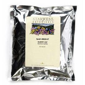 Bilberry Leaf 500 Caps 400 mg, StarWest Botanicals