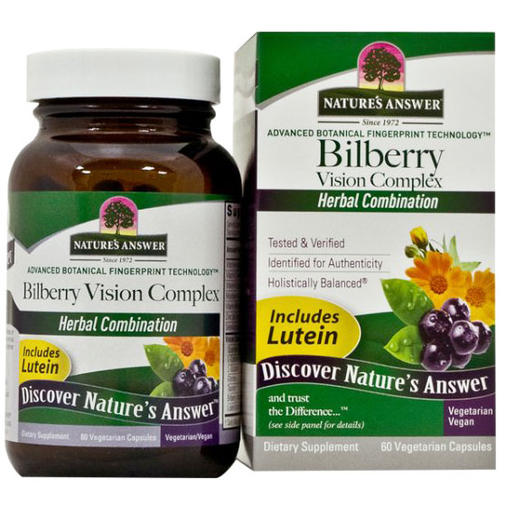 Bilberry Vision Complex 60 Vegicaps from Nature's Answer