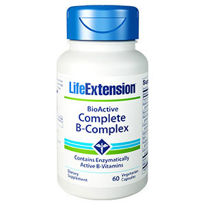 BioActive Complete B-Complex, 60 Vegetarian Capsules, Life Extension