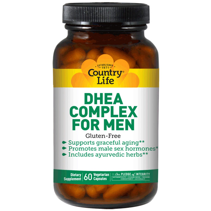 DHEA Complex For Men, 60 Vegetarian Capsules, Country Life
