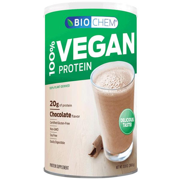 Biochem Sports 100% Vegan Protein, Chocolate Flavor, 13 oz (369 g)