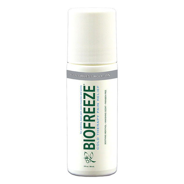 Biofreeze Colorless Roll-On, Topical Pain Reliever, 3 oz