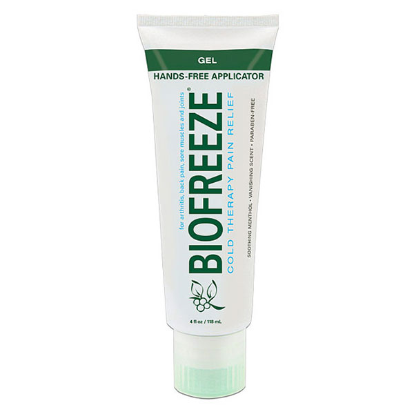 Biofreeze Pain Relieving Gel Tube with Hands Free Applicator, 4 oz