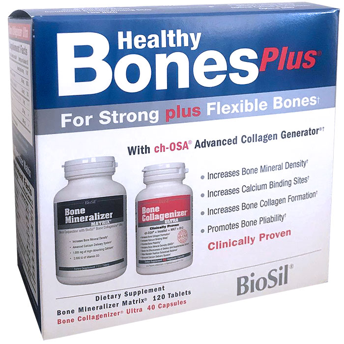BioSil Healthy Bones Plus Kit (Bone Collagenizer Ultra & Bone Mineralizer Matrix), 1 Kit (2 Bottles)