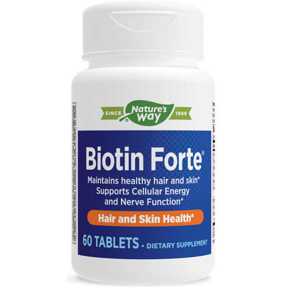 Biotin Forte, 60 Tablets, Enzymatic Therapy