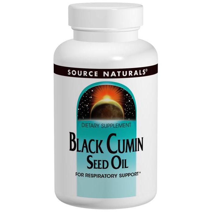 Black Cumin Seed Oil 500 mg, Value Size, 240 Softgels, Source Naturals