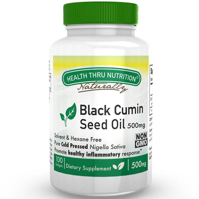 Black Cumin Seed Oil 500 mg, 100 Softgels, Health Thru Nutrition