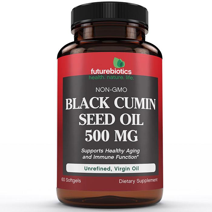 Black Cumin Seed Oil 500 mg, 60 Softgels, FutureBiotics
