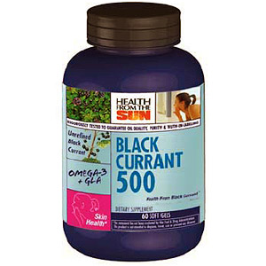 Black Currant Seed Oil 500mg Hexane Free, 90 Vegicaps, Health From The Sun