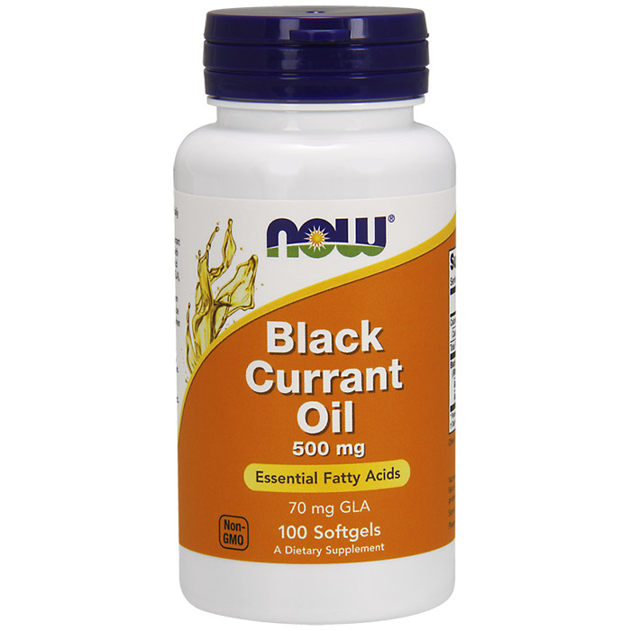Black Currant Oil 500mg 100 Softgels, NOW Foods