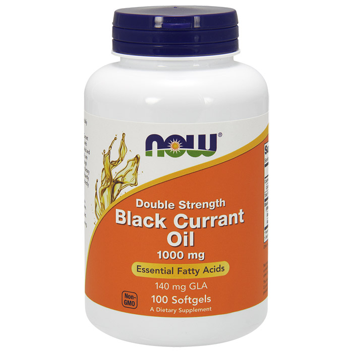 Black Currant Oil 1000 mg, 100 Softgels, NOW Foods
