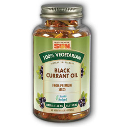 100% Vegetarian Black Currant Oil, 60 Softgels, Health From The Sun