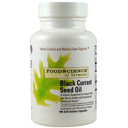 Black Currant Seed Oil 500 mg, 180 Capsules, FoodScience Of Vermont