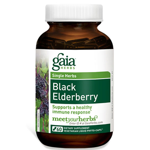 Black Elderberry, 60 Liquid Phyto-Caps, Gaia Herbs