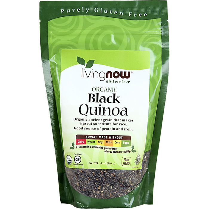Black Quinoa, Organic, 14 oz, NOW Foods