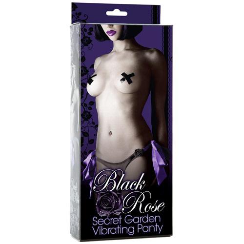 Black Rose Secret Garden Vibrating Panty, Doc Johnson