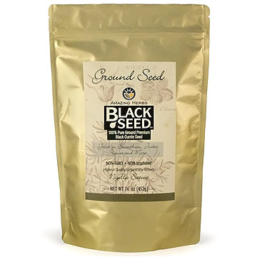 Black Seed Ground Seed, 16 oz, Amazing Herbs