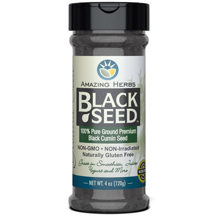 Black Seed Ground Seed, 4 oz, Amazing Herbs