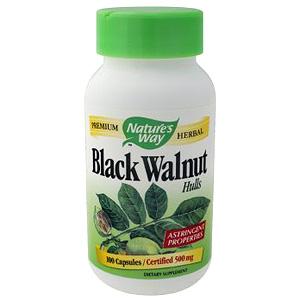 Black Walnut Hull 100 caps from Natures Way