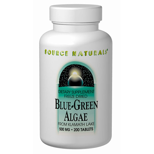 Blue-Green Algae 500mg 50 tabs from Source Naturals (Herbal Supplements - Spirulina Algae)