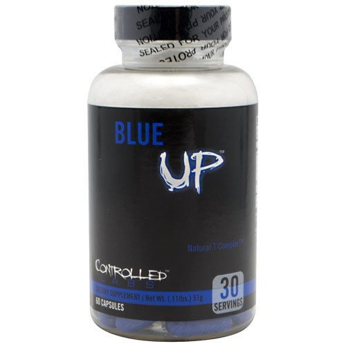 Blue UP ( Blue Rhino ) Testosterone Booster, 60 Caps, Controlled Labs