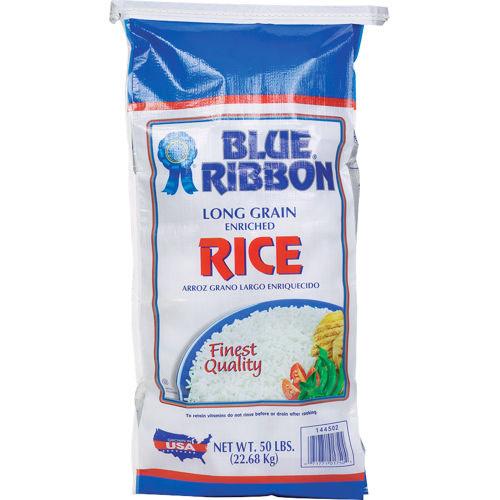 Blue Ribbon Rice Long Grain Enriched, 50 lb (22.68 kg), American Rice, Inc.