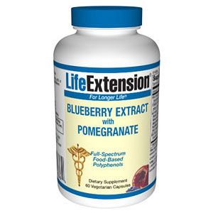 Blueberry Extract with Pomegranate, 60 Vegetarian Capsules, Life Extension
