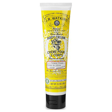 Natural Shea Butter Body Cream - Lemon Cream, 3.3 oz, J.R. Watkins