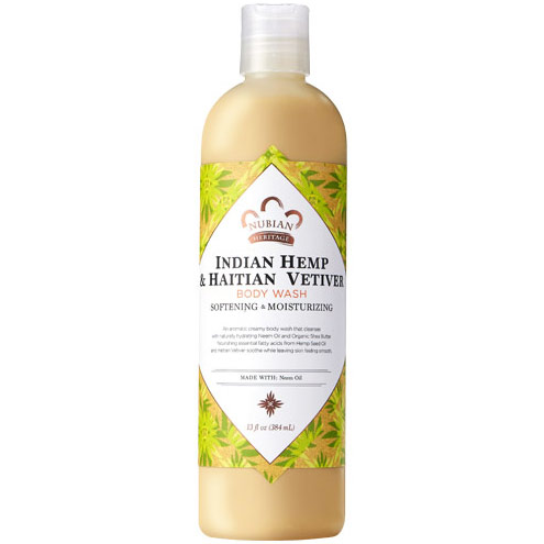 Indian Hemp & Haitian Vetiver Body Wash, 13 oz, Nubian Heritage