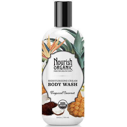 Moisturizing Cream Body Wash, Tropical Coconut, 10 oz, Nourish Organic
