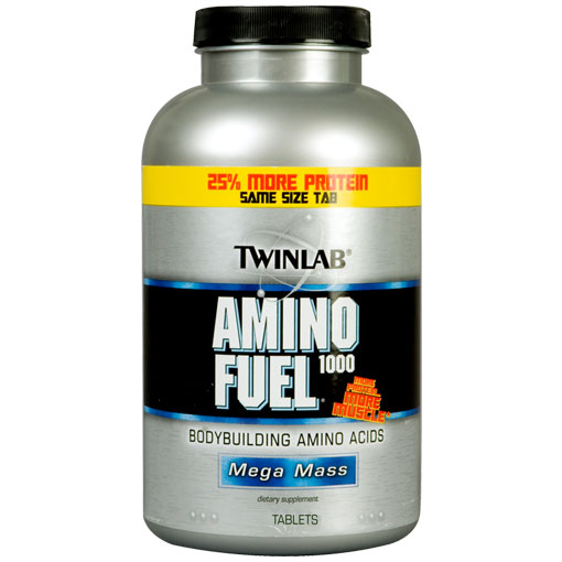 TwinLab Amino Fuel 1000, Amino Acids Fuel 1000mg, 250 Tablets