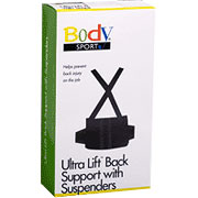 BodySport Back Support with Suspenders, X-Small, ZRB111XS
